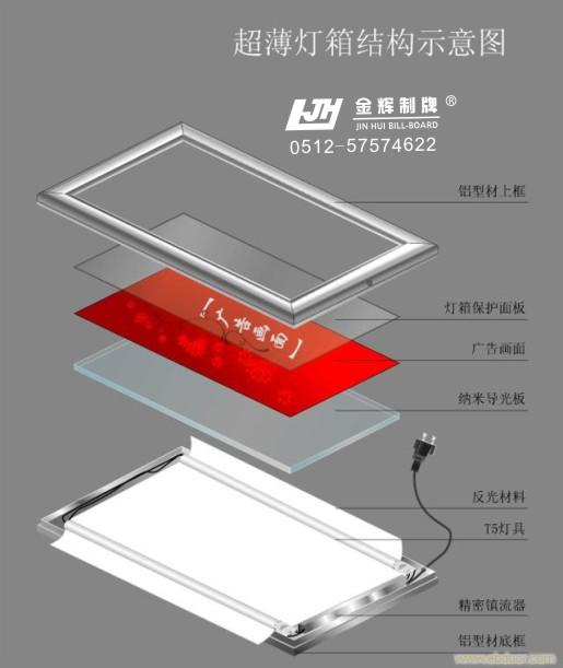 led超薄灯箱结构图